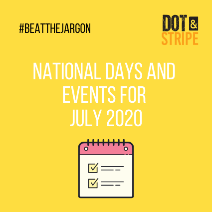 National Days and Events for July 2020