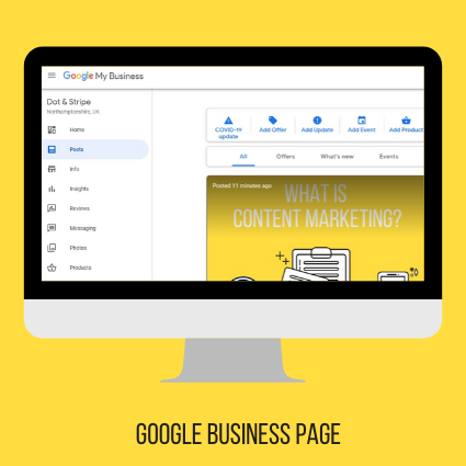 Dot & Stripe Google business page