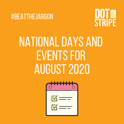 National Days and Events for August 2020