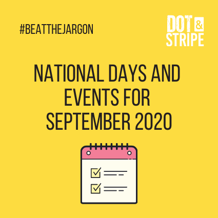 National Days and Events for September 2020