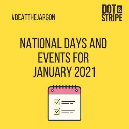 National Days and Events for January 2021